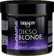 Парфюмерия и Козметика Маска за изсветлена коса - Dikson Dikso Blonde Mask