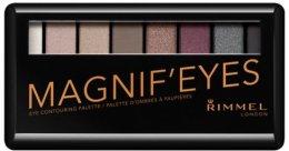 Парфюми, Парфюмерия, козметика Палитра сенки за очи - Rimmel Magnif'Eyes Eyeshadow Palette (London Nudes Calling)