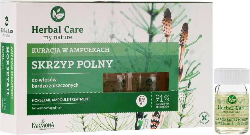 Подхранващи ампули против косопад за стимулиране растежа на косата - Farmona Herbal Care Horsetail Ampoule Treatment