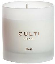 """Парфюмерия и Козметика Ароматна свещ """"Черно дърво"""" - Culti Milano Bianco Ebano"""
