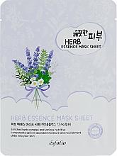 Парфюмерия и Козметика Памучна маска за лице с екстракт от билки - Esfolio Pure Skin Essence Herb Mask Sheet