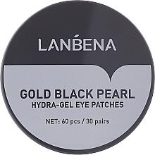 Парфюмерия и Козметика Хидрогел пачове за очи със злато и черна перла - Lanbena Gold Black Pearl Hydra-Gel Eye Patch