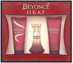 Парфюми, Парфюмерия, козметика Beyonce Heat - Комплект (парф. вода/30ml + душ гел/75ml + лосион за тяло/75ml)