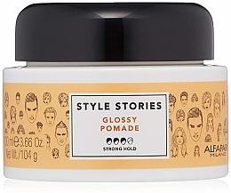 Парфюмерия и Козметика Помада за коса със силна фиксация - Alfaparf Milano Style Stories Glossy Pomade Strong Hold