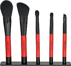 Парфюмерия и Козметика Комплект 5 бр. четки за грим - The Orchid Skin Magnetic Brush Pouch Set