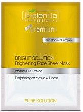 Парфюмерия и Козметика Изсветляваща маска за лице - Bielenda Professional Premium Pure Solution Brightening Sheet Face Mask