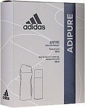 Парфюми, Парфюмерия, козметика Комплект - Adidas Adipure Men (душ гел/250ml + део спрей/150ml)