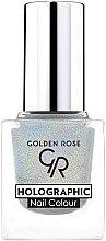 Парфюмерия и Козметика Лак за нокти - Golden Rose Holographic Nail Colour