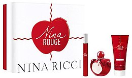 Парфюми, Парфюмерия, козметика Nina Ricci Nina Rouge - Комплект (тоал. вода/50ml + тоал. вода/10ml + лосион за тяло/75ml)