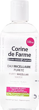 Мицеларна вода - Corine de Farme Purity Micellar Water — снимка N1