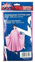 Парфюмерия и Козметика Пелерина за подстригване, розова - Ronney Professional Cutting Cape