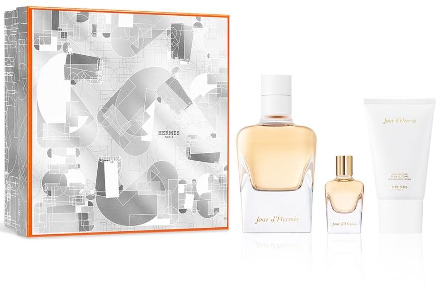 Hermes Jour DHermes - Комплект (парф. вода/85ml+парф. вода/7.5ml+лосион за тяло/30ml) — снимка N1