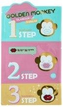 Парфюмерия и Козметика Комплект грижа за устните - Holika Holika Golden Monkey Glamour Lip 3-Step Kit