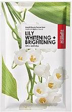 Парфюмерия и Козметика Изсветляваща и освежаваща памучна маска за лице с лилия - Manefit Beauty Planner Lily Whitening + Brightening Mask