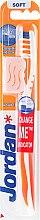 Парфюми, Парфюмерия, козметика Мека четка за зъби Advanced, оранжево-бяла - Jordan Advanced Soft Toothbrush
