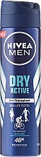 Дезодорант-антиперспирант спрей за мъже - Nivea Men Dry Active Deodorant — снимка N1