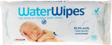 Детски мокри кърпички 60 бр - WaterWipes Baby Wipes — снимка N1
