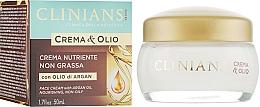 Парфюмерия и Козметика Подхранващ крем за лице - Clinians Argan Crema & Olio Cream