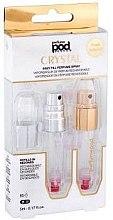 Парфюми, Парфюмерия, козметика Комплект парфюмни пълнители - Travalo Pod Crystal Duo Silver & Gold (atomiser/2x5ml + case)
