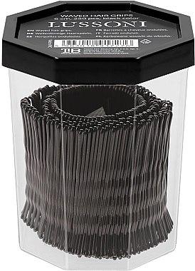 Фиби, 6 см., черни - Lussoni Waved Hair Grips 6 cm Black — снимка N2