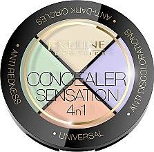 Парфюмерия и Козметика Палитра коректори за лице - Eveline Cosmetics Concealer Sensation 4in1