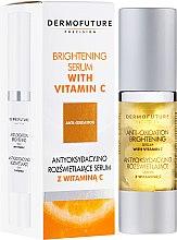 Парфюмерия и Козметика Серум за лице с витамин С - DermoFuture Brightening Serum With Vitamin C
