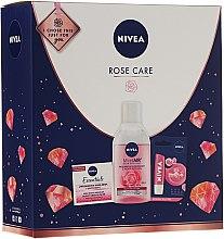Комплект за лице - Nivea Rose Care (балсам за устни/5.5ml + крем/50ml + мицел. вода/200) — снимка N1