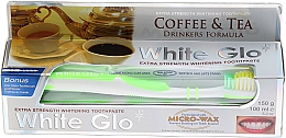 "Парфюмерия и Козметика Комплект паста и четка за зъби ""За любители на кафе и чай"" - White Glo Coffee & Tea Drinkers Formula Whitening Toothpaste (toothpaste/100ml + toothbrush)"