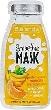 Парфюми, Парфюмерия, козметика Подхранваща маска за лице с банан и пъпеш - Bielenda Smoothie Mask Prebiotic Energizing Mask