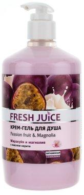Душ гел-крем с екстракт от маракуя и магнолия - Fresh Juice Brazilian Carnival Passion Fruit & Magnolia — снимка N3
