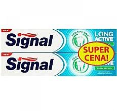 Парфюми, Парфюмерия, козметика Комплект пасти за зъби за свеж дъх - Signal Long Active Fresh Breath Toothpaste (Toothpaste/2х75ml)