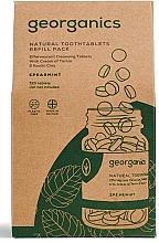 """Парфюмерия и Козметика Почистващи таблетки за уста """"Мента"""" - Georganics Mouthwash Tablets Spearmint Refill Pack (пълнител)"""