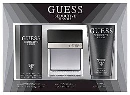 Парфюмерия и Козметика Guess Seductive Homme - Комплект (тоал. вода/100 + део спрей/226ml + душ гел/200ml)