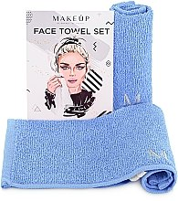 """Парфюмерия и Козметика Комплект кърпи за лице в син цвят """"MakeTravel"""" - Makeup Face Towel Set"""
