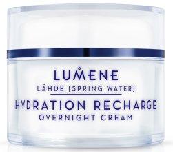Парфюми, Парфюмерия, козметика Нощен хидратиращ и възстановяващ крем за лице - Lumene Lahde Hydration Recharge Overnight Cream