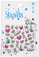 Парфюмерия и Козметика Декориращи лепенки за нокти - Snails 3D Nail Stickers (10бр)