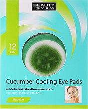 Парфюмерия и Козметика Пачове за очи - Beauty Formulas Cucumber Cooling Eye Pads