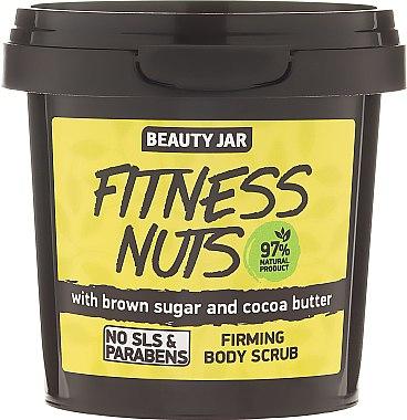 """Стягащ скраб за тяло с кафява захар и какаово масло """"Fitness Nuts"""" - Beauty Jar Firming Body Scrub"""