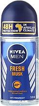 Парфюми, Парфюмерия, козметика Рол-он за мъже - Nivea For Men Fresh Musk Roll On