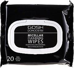 Парфюми, Парфюмерия, козметика Мицеларни кърпички за почистване на грим - Gosh Donoderm Micellar Cleansing Wipes