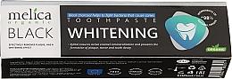 Парфюмерия и Козметика Избелваща паста за зъби с черен въглен - Melica Organic Toothpaste Whitening Black