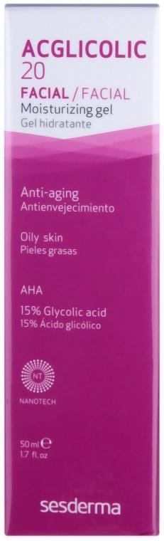 Хидратиращ гел крем - SesDerma Laboratories Acglicolic 20 Moisturizing Cream Gel — снимка N1