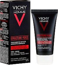 Парфюмерия и Козметика Флуид за лице - Vichy Homme Structure Force Complete Anti-ageing Hydrating Moisturiser