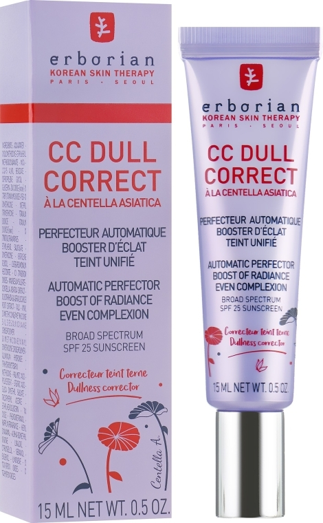 Erborian CC Dull Correct SPF 25 - Коригиращ крем за лице  — снимка N1