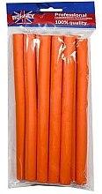 Парфюмерия и Козметика Професионални ролки за коса 16/210, оранжеви - Ronney Professional Flex Rollers