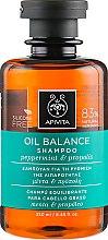Парфюмерия и Козметика Балансиращ шампоан за мазна коса - Apivita Oil Balance Shampoo