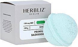 Парфюмерия и Козметика Бомбичка за вана с аромат на мента - Herbliz CBD