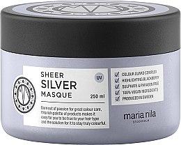 Парфюмерия и Козметика Маска за коса против жълти оттенъци - Maria Nila Sheer Silver Masque