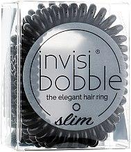 Ластик за коса - Invisibobble Slim True Black — снимка N2
