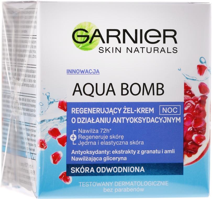 Крем-гел за лице - Garnier Aqua Bomb Night Cream
